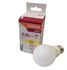 4052899971530 LS CLA 60 6.8W/827 (=60W) 220-240V FR E27 610lm 240° 15000h OSRAM LED-лампа