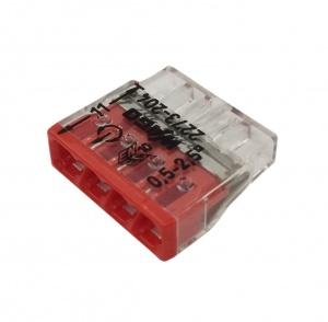 Клемма 4х(0.5-2.5мм) на 4 проводника (без пасты) WAGO 2273-204