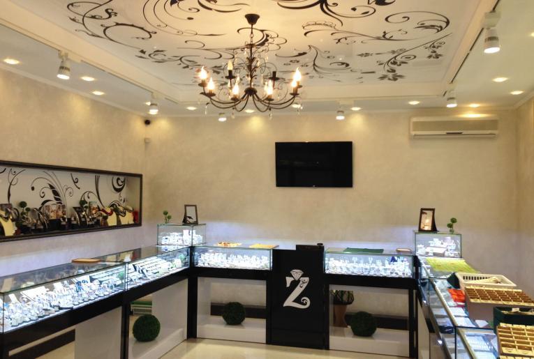 Проект освещения ювелирного салона Zlata