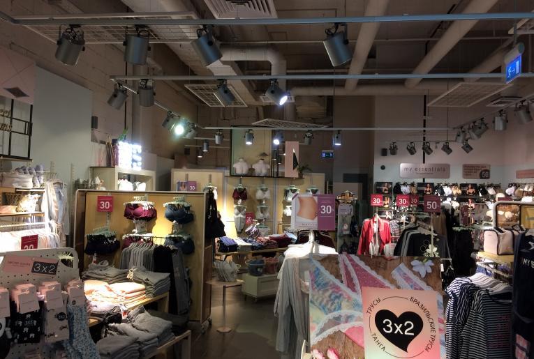 Проект освещения магазина Women'Secret ТЦ «Метрополис»